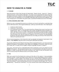 9 Poetry Analysis Templates Pdf Free Premium Templates