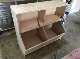 diy bookcase with toy storage plans step 11
