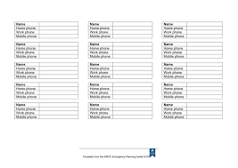 Emergency Phone Tree Emergency Telephone Tree Form In Word And Pdf Formats Page 2 Of 2