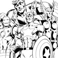 Small Picture Coloring Page The Avengers Kids Drawing And Coloring Pages