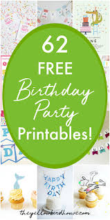 Birthday Banner Printable 62 Free Birthday Party Printables The Yellow Birdhouse