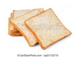 Whole Wheat Bread Slice Isolated On White Background