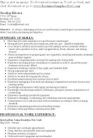 Resume For Cosmetology Student Cosmetology Resume Sample Resume Of A Cosmetologist Resume Samples