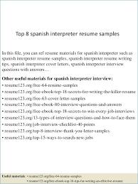 Medical Interpreter Resume Luxury Ideas Collection Barback Resume