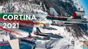 Cortina 2021 - Il sorvolo delle Frecce Tricolori sulle Dolomiti - YouTube