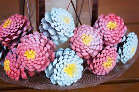 How To Make Paper Cones For Flower Petals Valu Home Centers Diy Pine Cone Zinnia Flowers Valu Home Centers