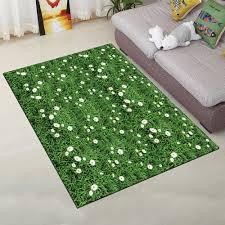 outfit home floor rug simple fresh green lawn design rectangle door mat