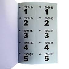 Raffle Ticket Booklets Amazon Com Raffle Tombola Cloakroom Ticket Book 1 To