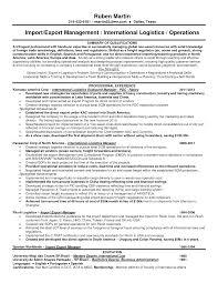 Resume Logistics Manager Resume
