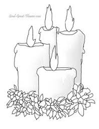 Small Picture Christmas candles A free printable coloring page Christmas