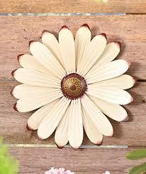 cream metal flower wall art garden