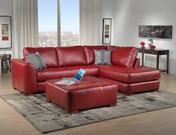 i want a red leather couch