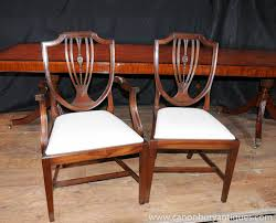 Photo Of Set  Regency Shield Back Dining Chairs Mahogany Diners - Shield back dining room chairs