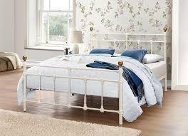 Lesley Bedroom Furniture Collection Birlea Atlas Bed Metal Cream Double Amazoncouk Kitchen Home