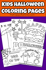 Color the pages with them and that is also called a mother and child bonding. Kids Halloween Coloring Pages