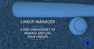 Youth Baseball Lineup Manager And Template Spiders Elite