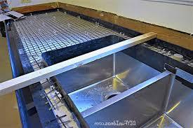 diy concrete countertops poured place enticing appearance kitchen