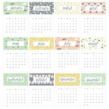 this geometric and fun 2018 printable calendar is the perfect size to sit as a reference