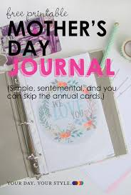 diy mother s day gift make a journal to ad to annually for moms and grandmas
