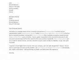 Template For Letter Of Complaint Proposal For Service Template