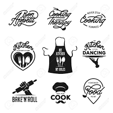 Cooking And Kitchen Related Quotes Set Poster Design Elements