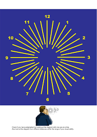 Astigmatism Chart Astigmatism Chart Yellow On Blue Exercises For Correcting