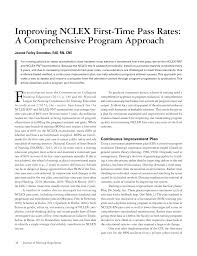 Pdf Improving Nclex First Time Pass Rates A Comprehensive
