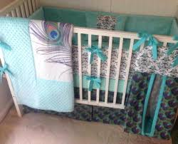 peacock crib bedding sets sugar skull baby bedding all about frightening teal and black white crib