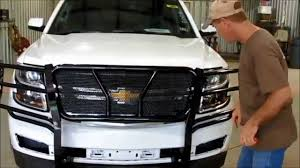 Frontier Grille Guard 2015-17 Chevy Tahoe/Suburban Installation ...