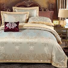 classic metallic gold ethnic inspired indian pattern retro western style bohemian style full queen size bedding sets