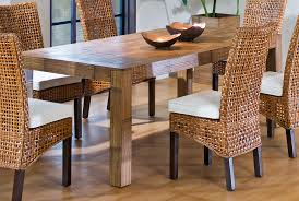 cool wicker dining room chairs table with indoor and idea