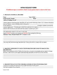 Hipaa Request Form Fillable Online Hipaa Request Form Gidocs Net Fax Email Print