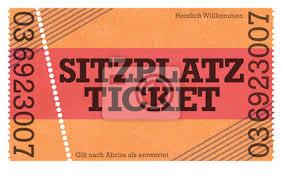 Sitzplatz Ticket Vintage Design Retro Style Classic Ticket