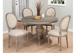 15 distressed dining room sets distressed gray pedestal table with regard to round dining idea 7