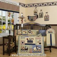 luxury baby bedding set boutique baby boy constructor 13pcs crib bedding set 100 coton
