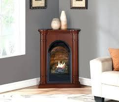 corner gas log fireplace less corner ventless gas log fireplaces