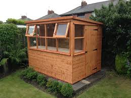 protect your mini plant by installing potting sheds in your garden carehomedecor