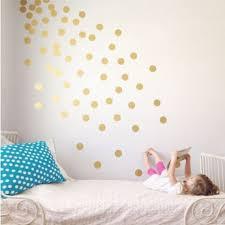polka dot wall decal gold dots decals