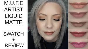 make up for ever artist liquid matte lipstick swatch review