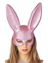bunny pink glitter s masquerade mask