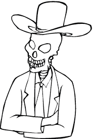 Small Picture Skeleton coloring pages wearing hat ColoringStar