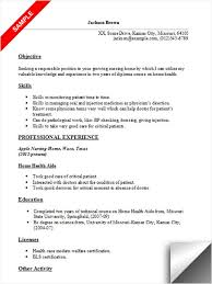 home health care resume. Home Health Aide Resume Sample