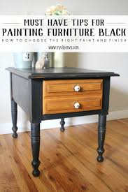black painted furniture ideas. Painting Furniture Black | Pitch Milk Paint Painted Ideas Www.mydiyenvy A