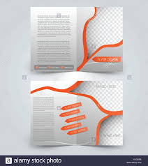 Two Page Brochure Template Brochure Template Design Two Page Mock Up Flyer Orange Color