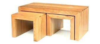 coffee table cube oak long john solid nest with 4 storage ottomans full size