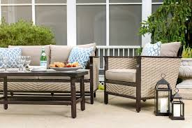 neutral furniture. Colton 4pc Patio Furniture Set (Neutral Grey, Wicker) Neutral P