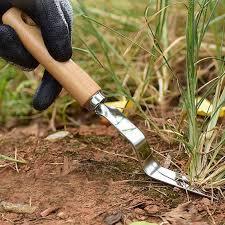 weeding fork hand tool garden wood