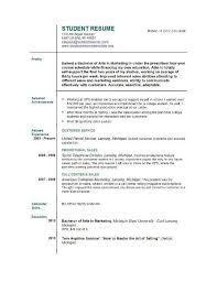 First Job Resume Cool Resume Templates For Students First Job Resume Template For Students
