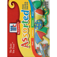 Mccormick Assorted Food Color Egg Dye 1 Fl Oz 4 Count