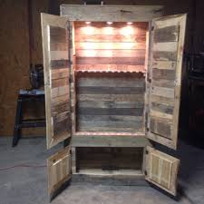 Cupboards Made From Pallets Gun Cabinet Made From Pallets Could Use Chicken Wire On The Doors